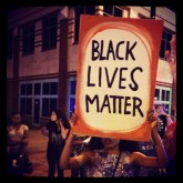 Demo photo Black Lives Matter sign