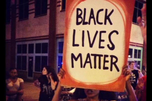 Demo photo Black Lives Matter sign