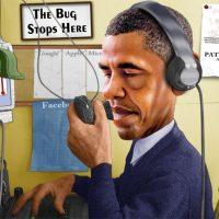 President Obama NSA caricature