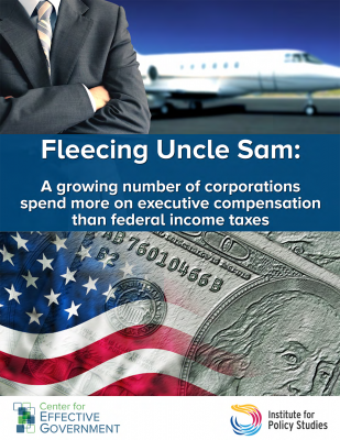 Fleecing Uncle Sam report cover