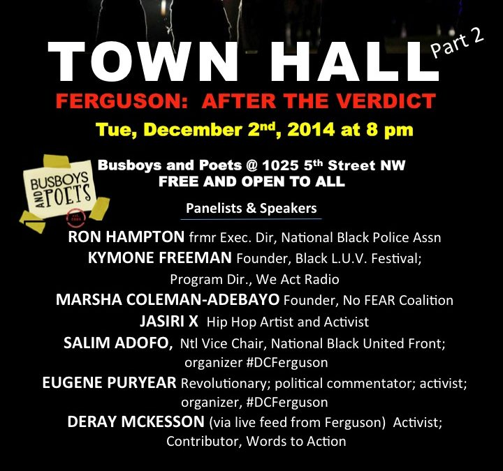 Town Hall Meeting: Ferguson After the Verdict