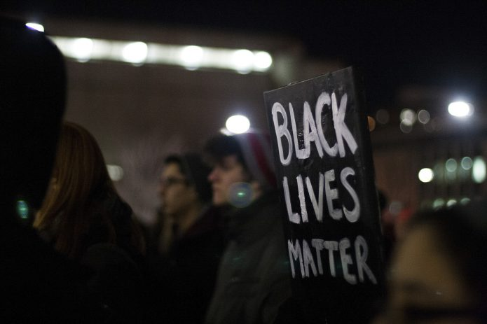 Black Lives Matter protest sign