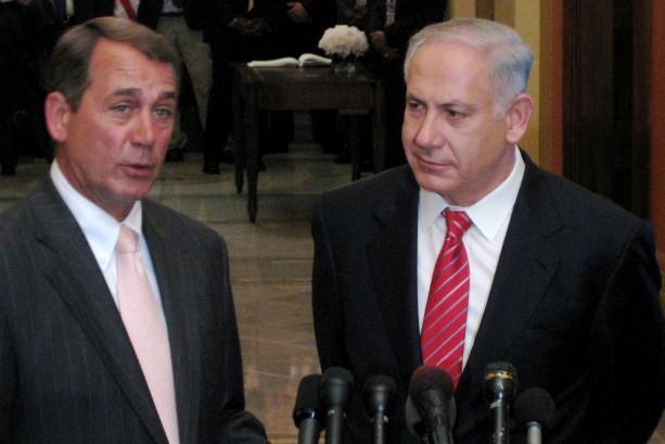 John Boehner and Benjamin Netanyahu