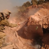 Israeli forces destroying a Hezbollah bunker