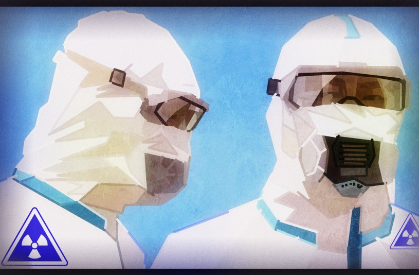 Nuclear radiation suits