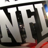 NFL logo at the Pro Football Hall of Fame