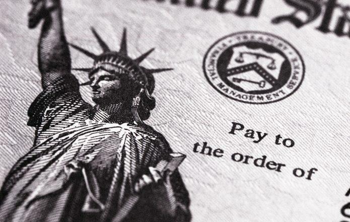 Statue of Liberty on a U.S. tax return.