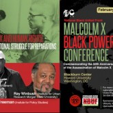 Flyer for Malcolm X and Human Rights