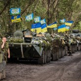 Ukraine Troops on the march
