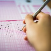 "Taking a scantron ""bubble"" test"