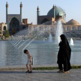 Woman and child in Iran