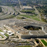 aerial shot of Pentagon