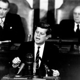 JFK giving speech