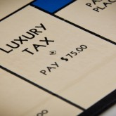Monopoly board luxury tax space