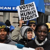 Protesters advocate for voting rights