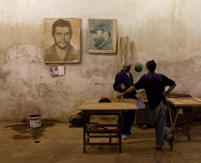 Cuban leaders' portraits