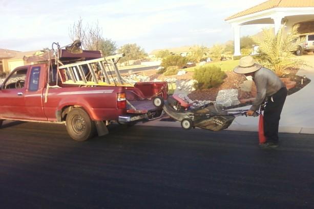 Velasco father loading truck