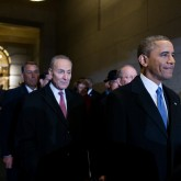 Senator Chuck Shumer with President Barack Obama