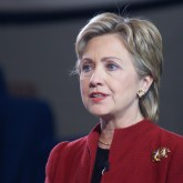 Hillary Clinton in red blazer