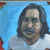 A mural of political prisoner Leonard Peliter