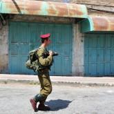 Israeli soldier Hebron Market
