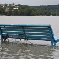 bench-water-flood-climate-change