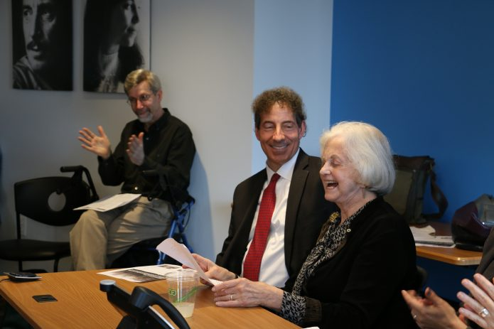 Ann Barnet and Jamie Raskin share memories of Dick Barnet and Marc Raskin.