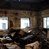 Damaged Medecins Sans Frontieres (MSF) hospital in northern Kunduz. (Photo: scrolleditorial / Flickr)