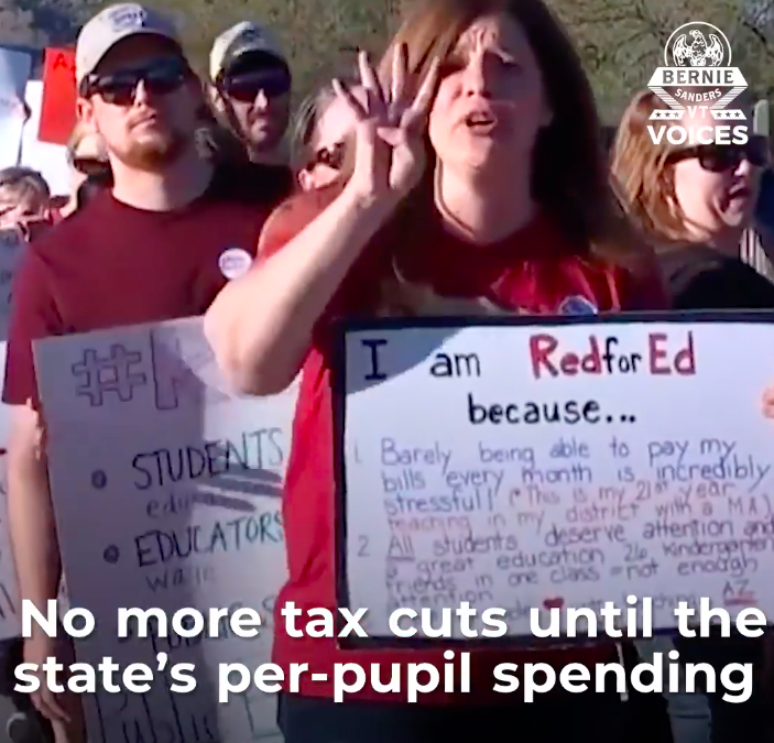 Arizona Teachers Show Link Between Tax Cuts and Underfunded Schools